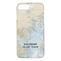 Baltimore MD Boater's Latitude Longitude Nautical iPhone 8/7 Case