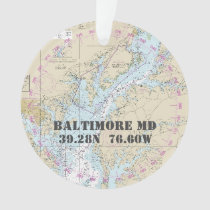 Baltimore MD Commemorative Nautical 2-Sided Ornament