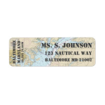 Baltimore MD Home Port Nautical Navigation Chart Label
