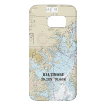 Baltimore MD Latitude Longitude Boater's Nautical Samsung Galaxy S7 Case