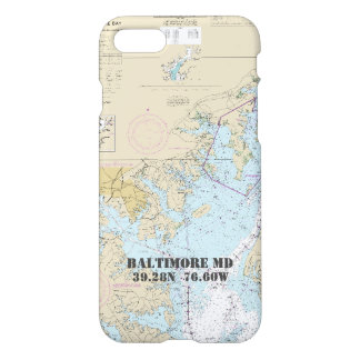 Baltimore MD • Latitude Longitude • Nautical iPhone 7 Case