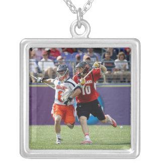 BALTIMORE, MD - MAY 30: Goalie Adam Ghitelman #8 Square Pendant Necklace