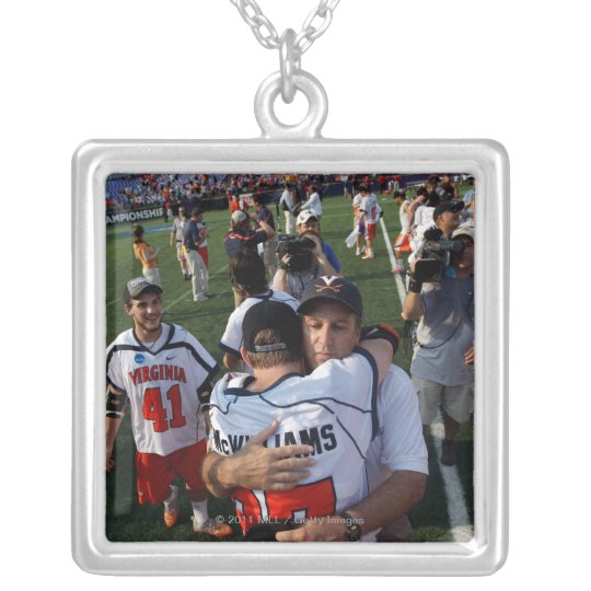BALTIMORE, MD - MAY 30:  Head coach Dom Starsia Silver Plated Necklace