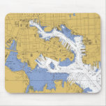 Baltimore MD Nautical Harbor Chart mousepad