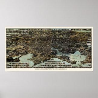 Baltimore, MD Panoramic Map - 1870 Poster