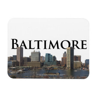 Baltimore MD Skyline with Baltimore in the Sky Rectangular Photo Magnet