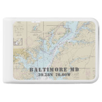 Baltimore Nautical Chart Latitude Longitude Power Bank