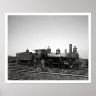 Baltimore & Ohio Railroad (B&O) Engine 932 Poster