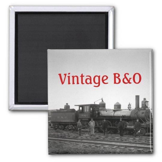 Baltimore & Ohio Railroad Engine # 932 - Vintage Magnet