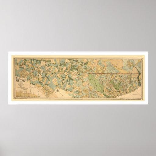 Baltimore & Ohio Railroad Map 1890 Posters