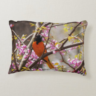 Baltimore Oriole Accent Pillow