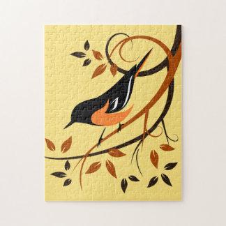 Baltimore Oriole Bird Art Puzzles