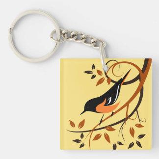 Baltimore Oriole Bird Lover Gifts Keychain