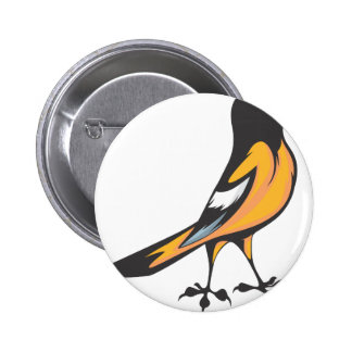 Baltimore Oriole Bird Pinback Button