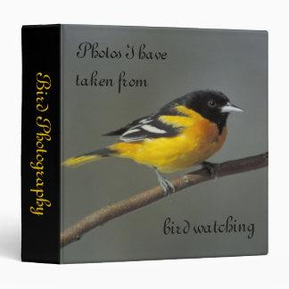 baltimore oriole bird watching photo avery binder