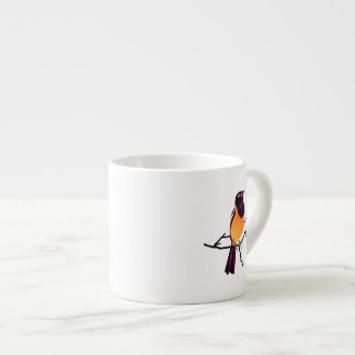 Baltimore Oriole en la ramita Taza Espresso
