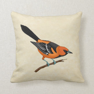 Baltimore Oriole on a Twig Pillow