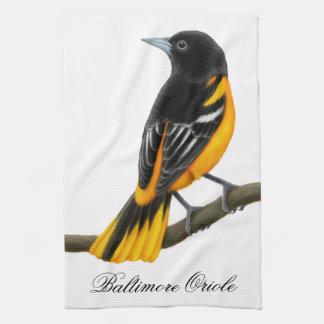 Baltimore Oriole Wild Bird Kitchen Towel
