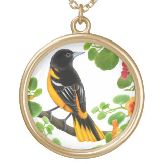 Baltimore Oriole Wild Bird Necklace
