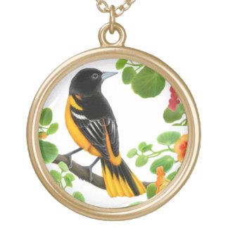 Baltimore Oriole Wild Bird Necklace