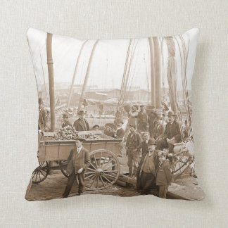 Baltimore Oyster Harvest 1905 Throw Pillow