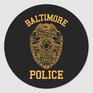 baltimore police maryland detective classic round sticker