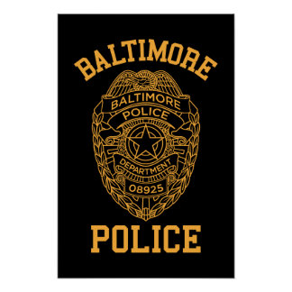 baltimore police maryland detective poster