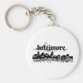 Baltimore puso para su ciudad llaveros personalizados