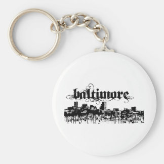 Baltimore put on for your city basic round button keychain