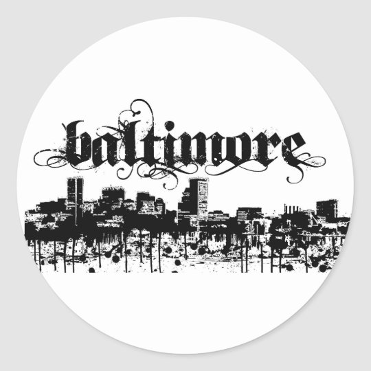 Baltimore put on for your city classic round sticker