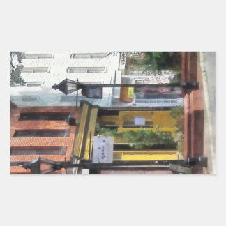 Baltimore - Quaint Fells Point Shreet Rectangular Sticker