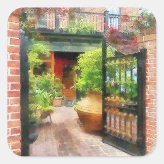 Baltimore - Restaurant Courtyard Fells Point Square Sticker