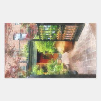 Baltimore - Restaurant Courtyard Fells Point Rectangular Sticker