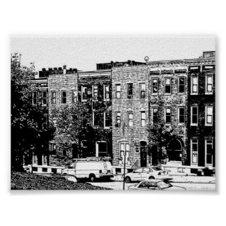 Baltimore Rowhouse Poster