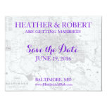 Baltimore Save the Date Vintage Map (gray) 4.25x5.5 Paper Invitation Card