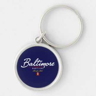 Baltimore Script Keychain
