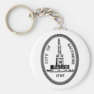 Baltimore Seal Basic Round Button Keychain