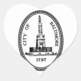Baltimore Seal Heart Sticker