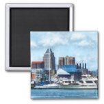 Baltimore Skyline and Harbor 2 Inch Square Magnet
