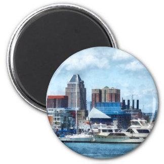 Baltimore Skyline and Harbor Refrigerator Magnet