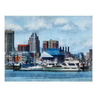 Baltimore Skyline and Harbor Poster