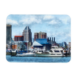 Baltimore Skyline and Harbor Rectangle Magnet