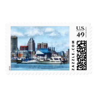 Baltimore Skyline and Harbor Stamp