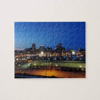 Baltimore Skyline at Dusk Jigsaw Puzzle