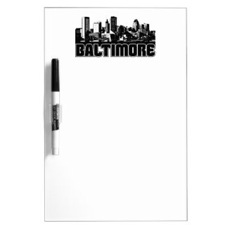 Baltimore Skyline Dry-Erase Whiteboards
