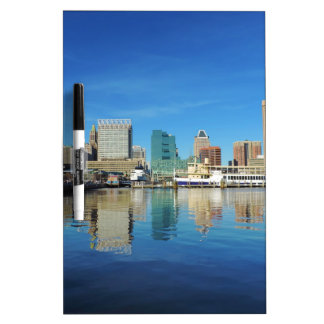 Baltimore Skyline Dry Erase White Board