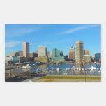 Baltimore Skyline from Federal Hill Rectangular Sticker