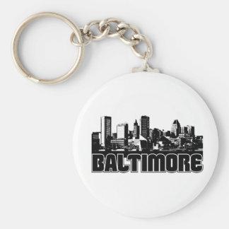 Baltimore Skyline Keychain