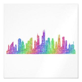 Baltimore skyline magnetic card