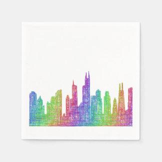 Baltimore skyline napkin